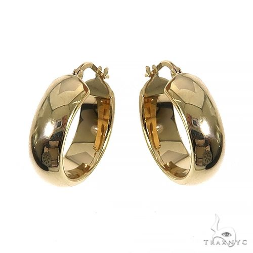 14K Gold Hoop Earrings 66559 Metal