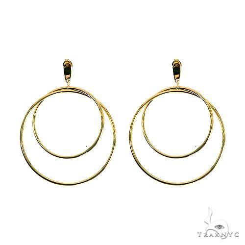 14K Gold Double Hoop Earrings 66562 Metal