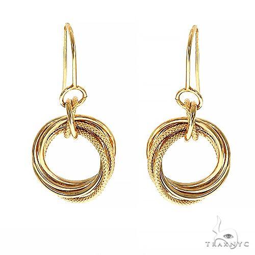 14K Gold Knot Hoop Earrings 66563 Metal