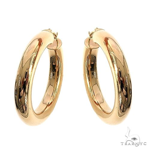 14K Gold Hoop Earrings 66565 Metal