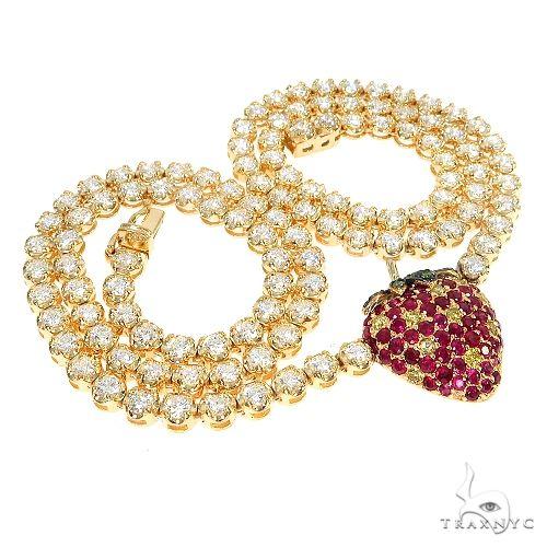14K Gold Strawberry Diamond Tennis Choker 66578 Diamond