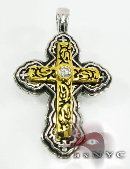 Sterling Silver Pendant Cross Crucifix Metal
