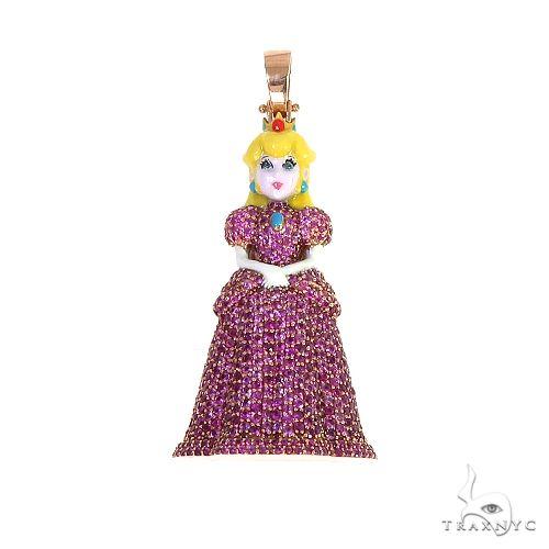14K Gold Princess Pendant 66584 Stone