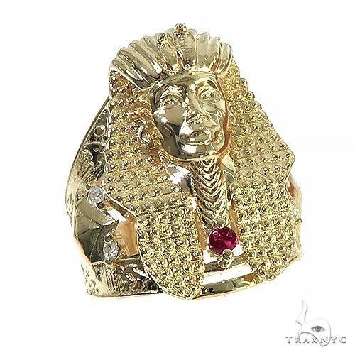 14K Gold Pharaoh Ring 66585 Metal