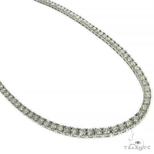 TraxNYC Signature 15 Pointers 14K White Gold Diamond Tennis Chain 66597 Diamond