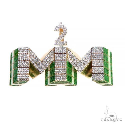 Custom Made 2 Much Money Diamond Pendant 66599 Metal