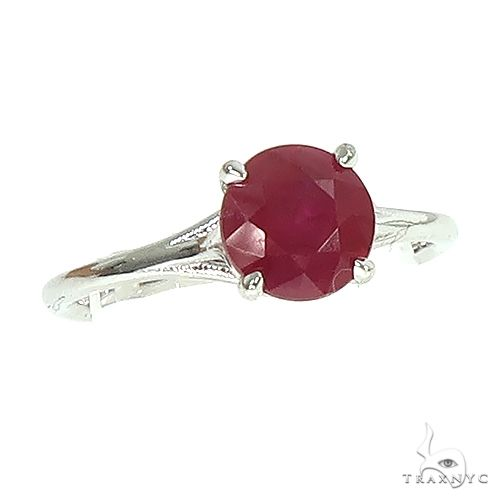 14K Gold Ruby Solitaire Engagement Ring 66602 Stone