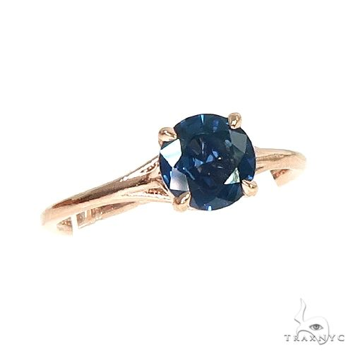 14K Gold Blue Sapphire Solitaire Engagement Ring 66604 Stone