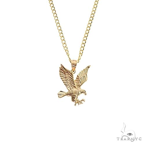 10K Yellow Gold Eagle Pendant Set 66612 Metal
