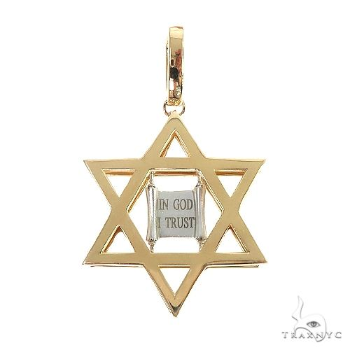14K Gold David Star Pendant 66621 Metal