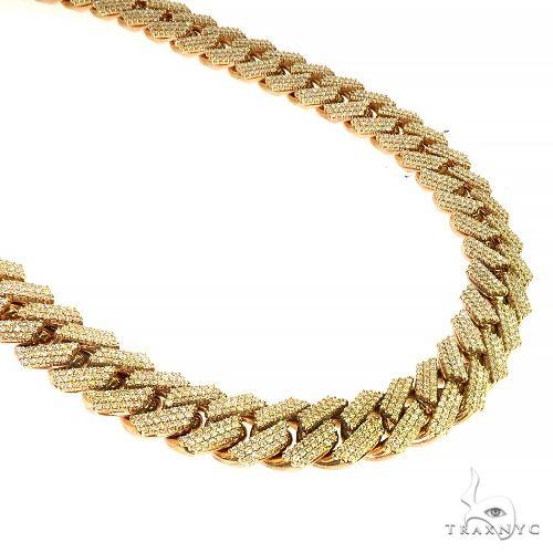 14K Gold Miami Cuban Diamond Chain 781.20Gr 24.5 Inches 21mm 66628 Diamond