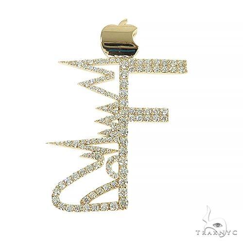 14K Gold Diamond Logo 'F' Pendant 66632 Metal