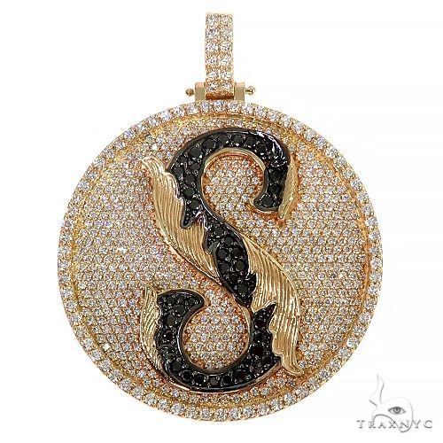 Custom Made 'S' Round Diamond Pendant 66634 Style