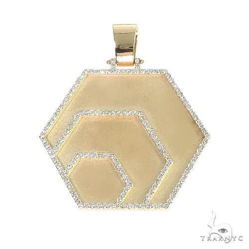 Custom Made Hex Diamond Pendant 66652 Metal