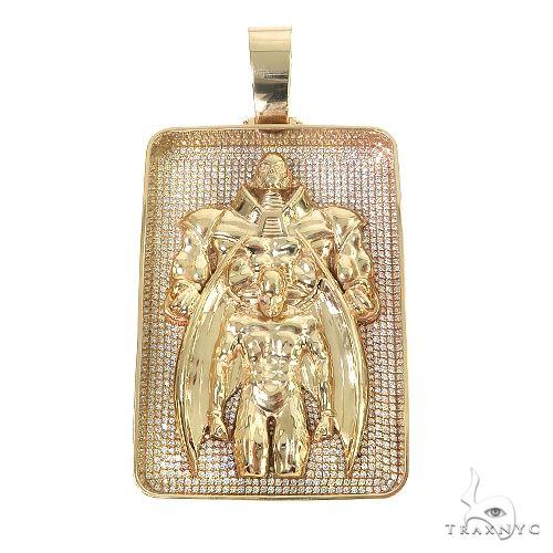 Custom Made Apocalypse And Archangel Diamond Pendant 66658 Metal