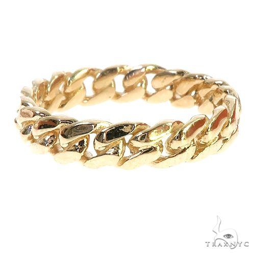 10K Yellow Gold Miami Cuban Link Ring 4.5mm 66663 Metal