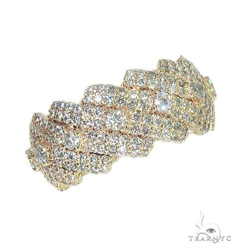 14K Gold Pron Rised Diamond Miami Cuan Ring 66670 Stone