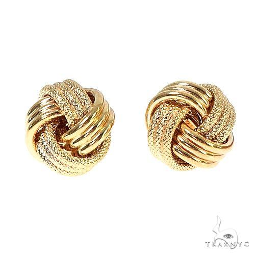 14K Yellow Gold Knot Earrings 66673 Metal