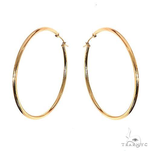 14K Gold Hoop Earrings 66675 Metal