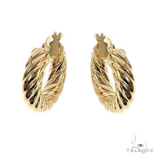 14K Gold Hoop Earrings 66676 Metal