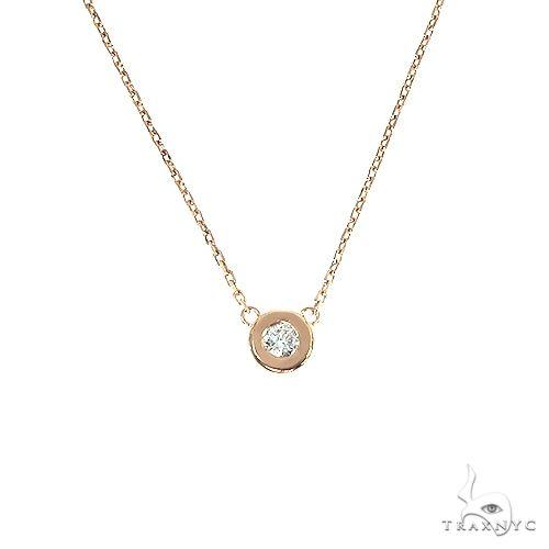 Bezel Diamond Necklace 66679 Gold