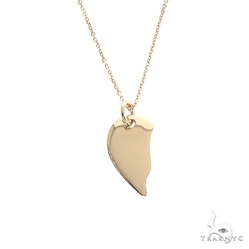 14K Gold Half Broken Heart Necklace 66682 Gold