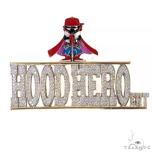 Custom Made Hood Hero Ent. Diamond Pendant 66692 Metal