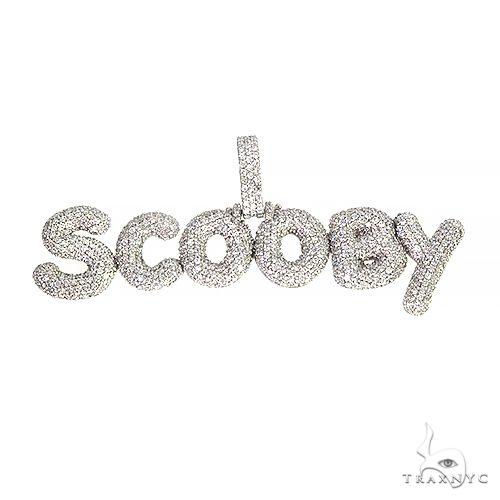 Custom Made Bubble Style 'Scooby' Diamond Pendant 66694 Metal