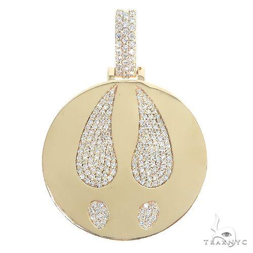 14K Gold Custom Made Diamond Round Pendant 66697 Metal