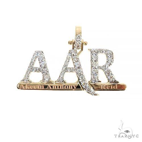 Custom Made 'AAR' Diamond Pendant 66703 Stone