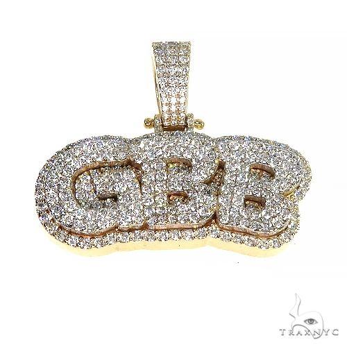 Custom Made 'CBB' Diamond Pendant 66705 Metal