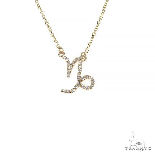 14K Gold Capricorn Diamond Necklace 66711 Diamond