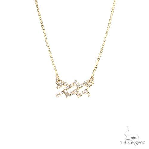 14K Gold Aquarius  Diamond Necklace 66712 Diamond