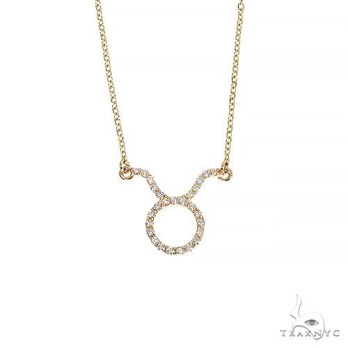 14K Gold Taurus Diamond Necklace 66714 Diamond