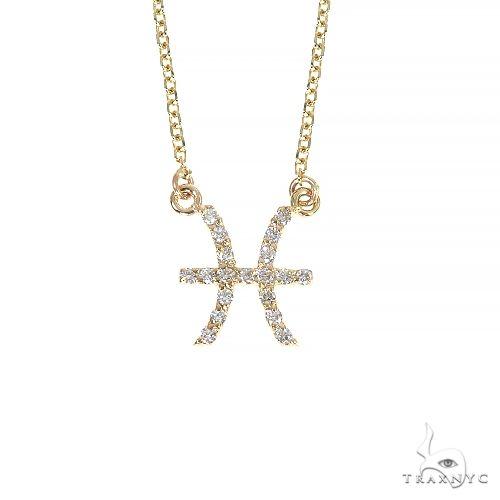 14K Gold Pisces Diamond Necklace 66715 Diamond