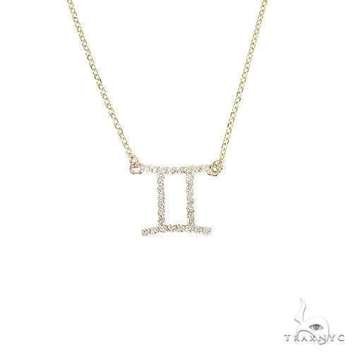 14K Gold Gemini  Diamond Necklace 66712 66713 Diamond