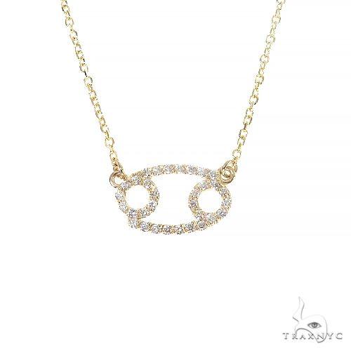 14K Gold Cancer Diamond Necklace 66717 Diamond