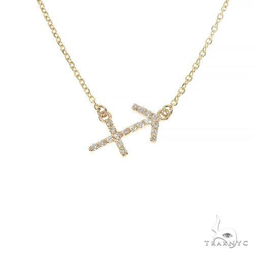 14K Gold Sagittarius Diamond Necklace 66718 Diamond