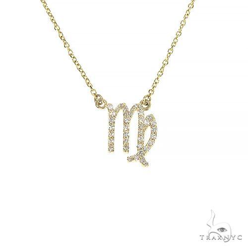 14K Gold Virgo Diamond Necklace 66719 Diamond