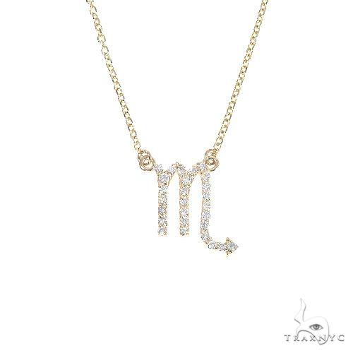 14K Gold Scorpio Diamond Necklace 66721 Diamond