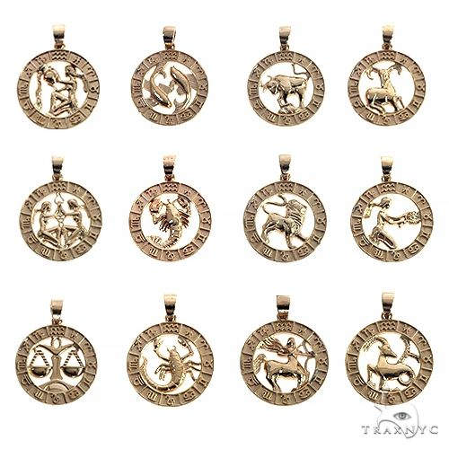 14K Gold Zodiac Sign Pendant 66723 Metal