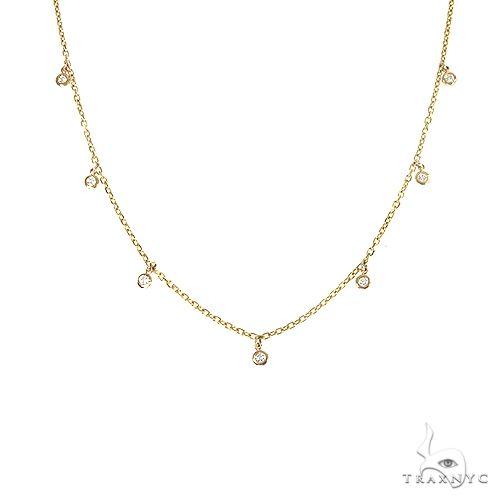 14K Gold Bezel Drop Diamond Choker 66728 Diamond