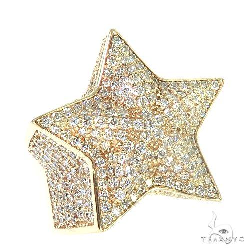 14K Gold Star Diamond Ring 66731 Stone