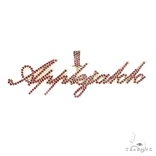 Custom Made Script Style 'AppleJakk' Ruby Pendant 66755 Stone