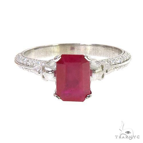 Emerald Cut Ruby Engagement Ring 66757 Anniversary/Fashion