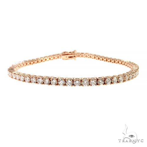 10 Pointer Parcel Diamond Tennis Bracelet 66787 Diamond