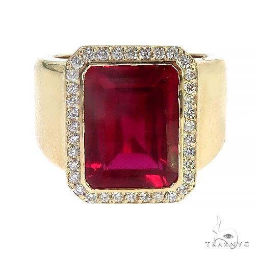 14K Gold Ruby and Diamond Ring 66797 Gemstone