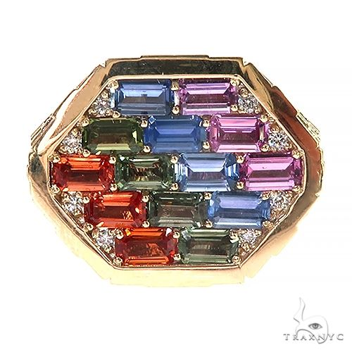 Sapphire Diamond Brick Hexagon Ring 66799 Men Specials