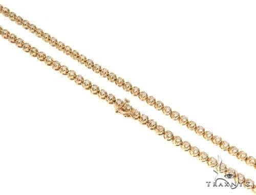 Round Cut Diamond Chain 32 Inches, 4mm, 46 Grams Diamond