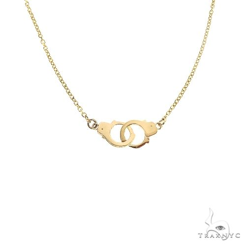 14K Gold Handcuffs Necklace 66802 Gold